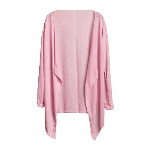 YAliDa 2019 clearance sale Summer Women Long Thin Cardigan Modal Sun Protection Clothing Tops D(One Size,Pink-b )