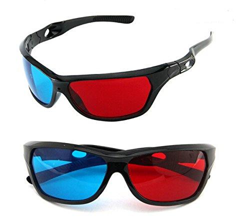 2015 Universal Type 3D Glasses/ Color Red Blue Cyan 3D Glasses Tv Movie Dimensional Anaglyph Video Framed 3D Vision Glasses^.