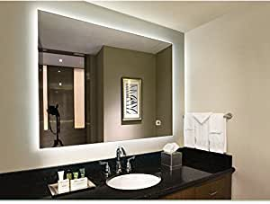 "LED Lighted Rectangular Wall Mounted Mirror (36""x28"", LED Lighted)"