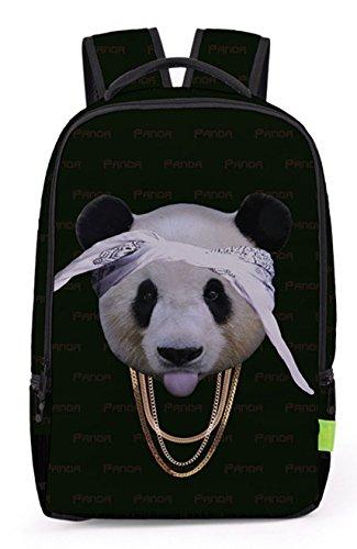 Pizoff Doulbe Mesh Padded Adjustable Shoulder Straps Cute Colorful Cute Panda Print School Bookbags Rucksack Travel Laptop Backpacks Boys Girls (Colorful Backpacks)