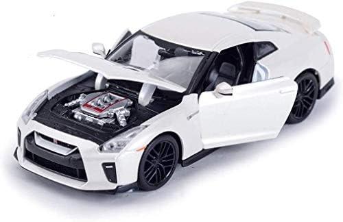 カーモデル、モデルカー1時24分2017 GTR R35アレスダットサンスポーツカーシミュレーションカーの合金の車のモデルオフロ