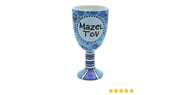 Our Name Is Mud by Lorrie Veasey Mazel Tov Ceramic Goblet 7-Inch Enesco 4020677