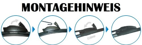 Handycop® 2x Flex/Flat Scheibenwischer für Fusion/Fiesta 6. Generation Typ JH1/JD3-2001-2008 Flach Wischer Satz Set Premium Handycop®