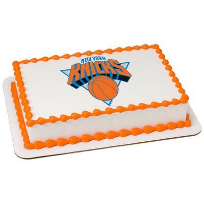 New York Knicks Licensed Edible Cake Topper #10286: Kitchen & Dining