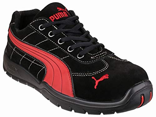 (Puma Safety SILVERSTONE LOW 642630 Mens Leather Safety Boots Black 43)