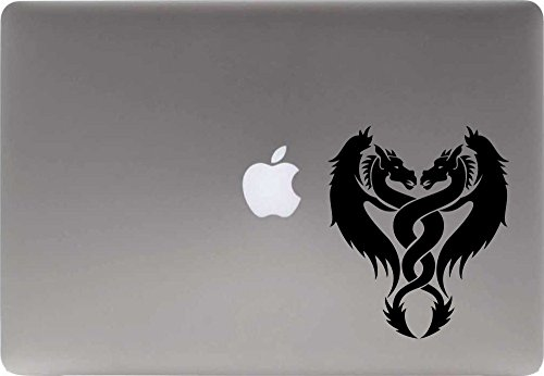 Dragon Twist Vinyl Decal Sticker for Computer Macbook Laptop Ipad Electronics Home Window Custom Walls Cars Trucks Motorcycle Automobile and More ()