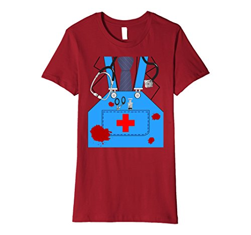 Bloody Surgeon Doctor Halloween Costume Premium T-shirt