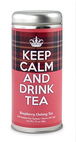 Keep Calm and Drink Tea- Raspberry Oolong Tea: All-Natural blend, Gluten Free, Immune booster, Antioxidants, Slimming Tea, 24 (Oolong Tea Drinks)