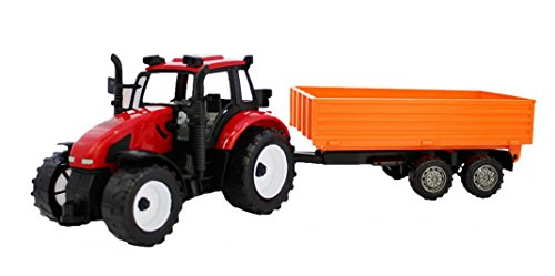 red tractor toy - 6