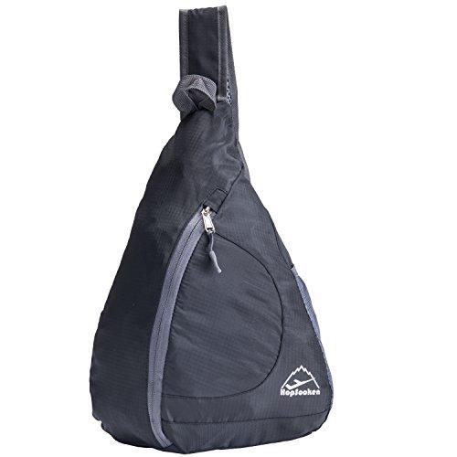 Hopsooken Travel Lightweight Shoulder Backpack Packable Sling Chest CrossBody Bag Hiking Waterproof Sport Bicycle Camping School Backpack for Men & Women