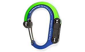 LULABOP Qliplet Carabiner Hanger with Rotating Folding Hook - Strong Clip for Camping, Travel; Adventure Tool; Sports Accessory; Organizing Gadget; Baby Gear