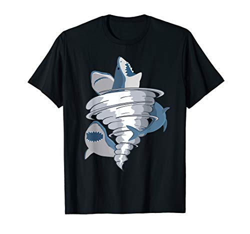 Halloween Shark Tornado Tiger Great White Sharks Bite Shirt]()