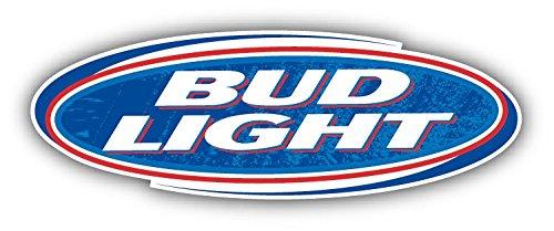 "Bud Light Beer Logo Grunge Set of 2 Car Bumper Sticker Decal 14"" X 5"""