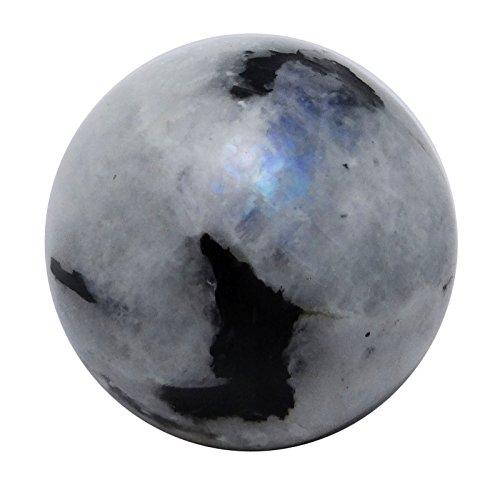 (HARMONIZE Rainbow Moonstone Mini Sphere Ball Balancing Art Reiki Healing Stone Table Decor )