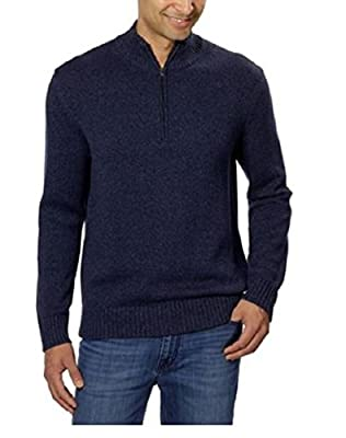 Calvin Klein Jean Men's 1/4 Rib Knit Sweater. ( Navy Armada, X-Large)