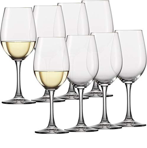 Circleware Wine Glasses, 8-Piece Glassware Set Party Entertainment Dining Beverage Drinking Cups for Water, Liquor…