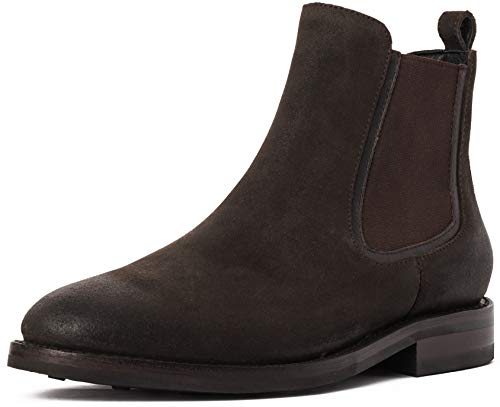 Company Olive - Thursday Boot Company Duke Men's Chelsea Boot, Dark Olive Suede, 8 M US