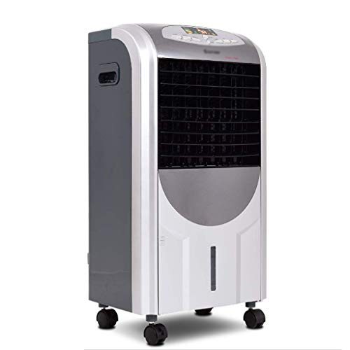 Humidifier 5 in 1 Compact Air Cooler | Heater Fan | Purifier with Fan Filter Ice Crystal Box LED Panel 8 Hours Timer 3 Speed 7L Water Tank 4 Wheels Remote Control