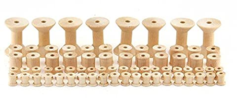 Hygloss Products Wooden Spools for Arts and Crafts – Splinter Free – Assorted Sizes, 72 Pieces (Starting Montessori School)