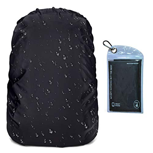 OUTJOY Backpack Rain Cover (26L-40L) Waterproof Rainproof Backpack Pack Cover with Silver Coating Reinforced Inner Layer for Hiking Camping Traveling Cycling