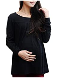 AILIENT Blouses Women Maternity Tunic Hipster Tops Pregnancy T Shirt