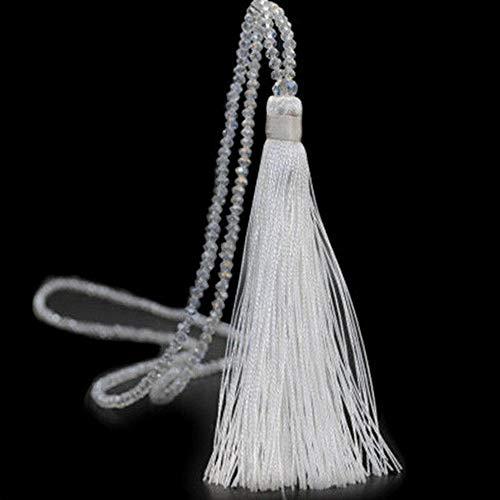 Werrox Elegant Women Crystal Beaded Necklace Long Tassel Pendant Sweater Chain Jewelry | Model NCKLCS - 21939 |