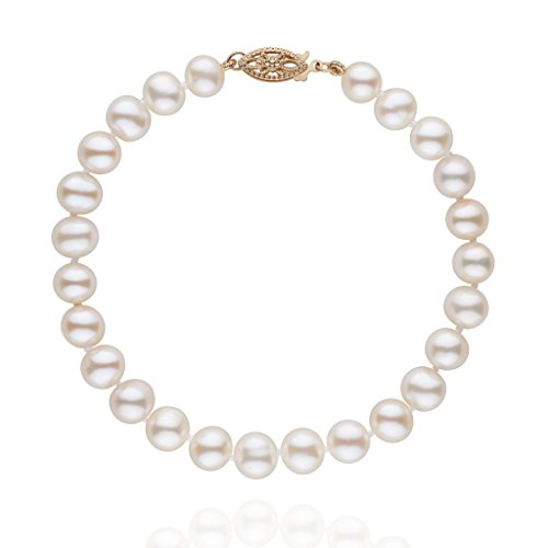 6.5-7.0 mm White Freshwater AA Cultured Pearl Bracelet