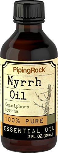 Piping Rock Myrrh 100% Pure Essential Oil 2 fl oz (59 ml) Bottle Commiphora Myrrha Therapeutic Grade