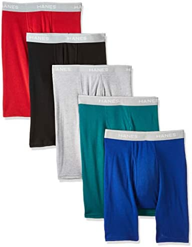 Hanes Men's Tagless Exposed Waistband Boxer Briefs