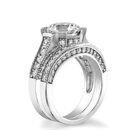 Gowe Centre 3.5carat rond brillant Halo Ascd imitation diamant Argent 925Bague de fiançailles plaque platine de mariage Diamant