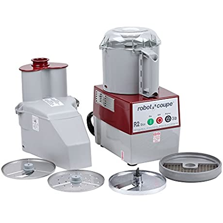 Robot Coupe R 2 Dice Continuous Feed Combination Food Processor Dicer With 3 Qt Gray Polycarbonate Bowl 120V