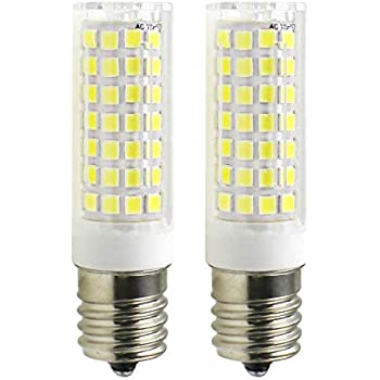 E17 LED Bulb - Attaljus E17 Microwave Oven Appliance Light Bulbs, 7W (60W Halogen Bulb Equivalent), 580LM Daylight White 6000K, Dimmable Corn Bulbs for Over The Counter Range Hood, Pack of 2