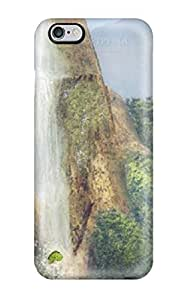 Awesome Bay Near The Waterfall Animated Flip Case With Fashion Design For Iphone 6 Plus