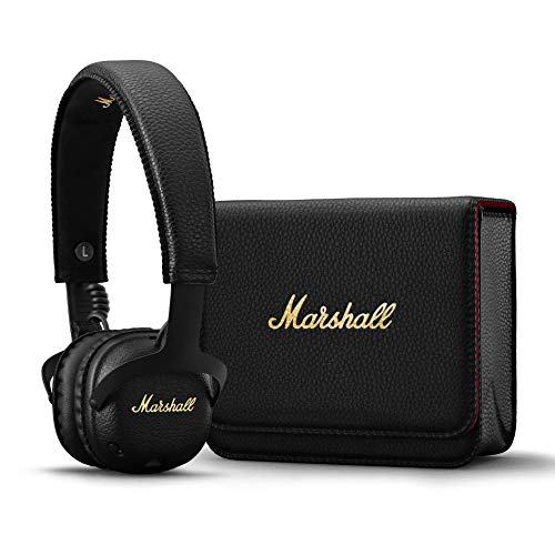 41Vnh6CUqYL - Marshall Mid ANC Active Noise Cancelling On-Ear Wireless Bluetooth Headphone, Black (04092138)