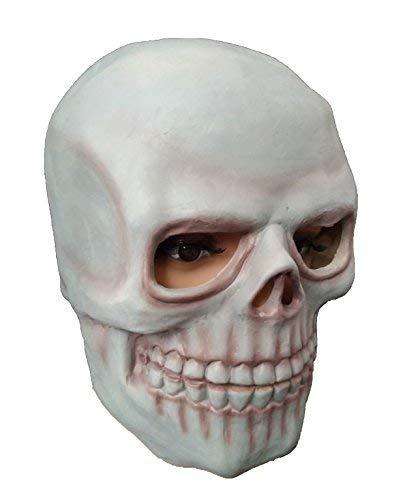 DylunSky Halloween Latex Mask Skull Scary Mask Tricky Toy]()