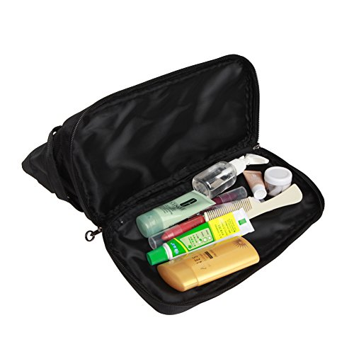 Freeprint Spacious Water-resistant Travel Toiletry Bag Dopp Kit for Men and Women, Black by Freeprint (Image #3)