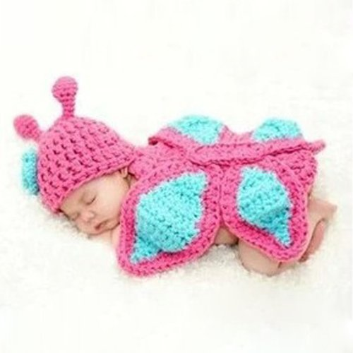 Baby Girls Boy Newborn 0-12 Month Knit Crochet Clothes Photo Prop Outfits