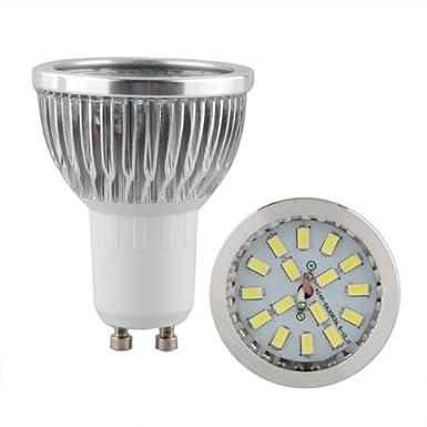 4 x GU10 6W 16 LED 5630 SMD Lámpara Bombilla Foco 6500K Luz Blanco: Amazon.es: Iluminación