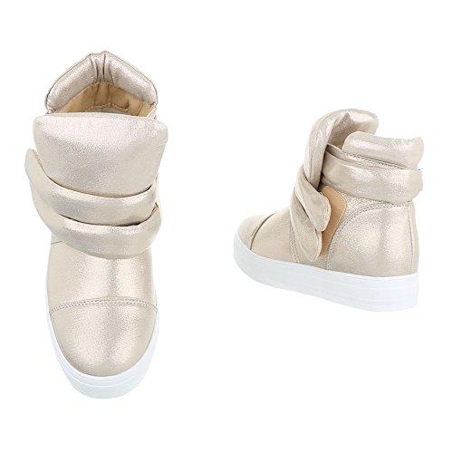 Ital-Design Women's Schlupfstiefel Gold Jqy5q