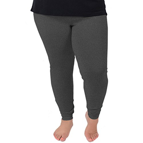 Stretch is Comfort Women's Cotton Plus Size Leggings Charcoal Gray 4X]()