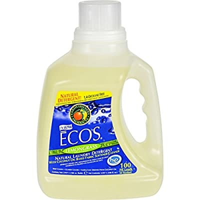 2Pack! Earth Friendly Ecos Ultra 2x All Natural Laundry Detergent - Lemongrass - 100 fl oz