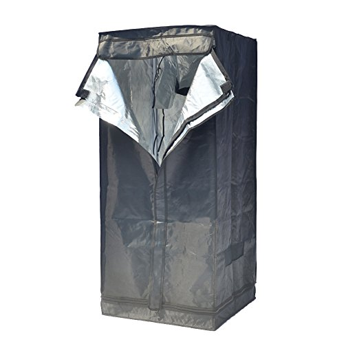 """41VnjN1TffL - Grow Tent Indoor 2x2 Feet Not Include LED - Small Reflective Mylar Hydroponic/Hydro Waterproof Seedling Plant Growing Room for Grow Tents, Black 24""""x24""""x56"""""""