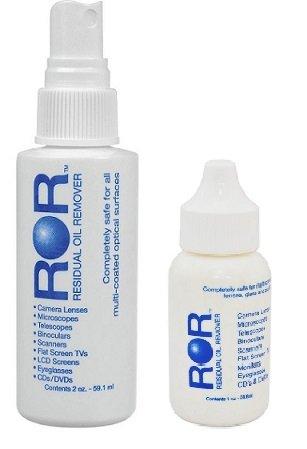 - ROR Optical Lens Cleaner 2 oz Spray Bottle AND 1 oz Dropper Bottle