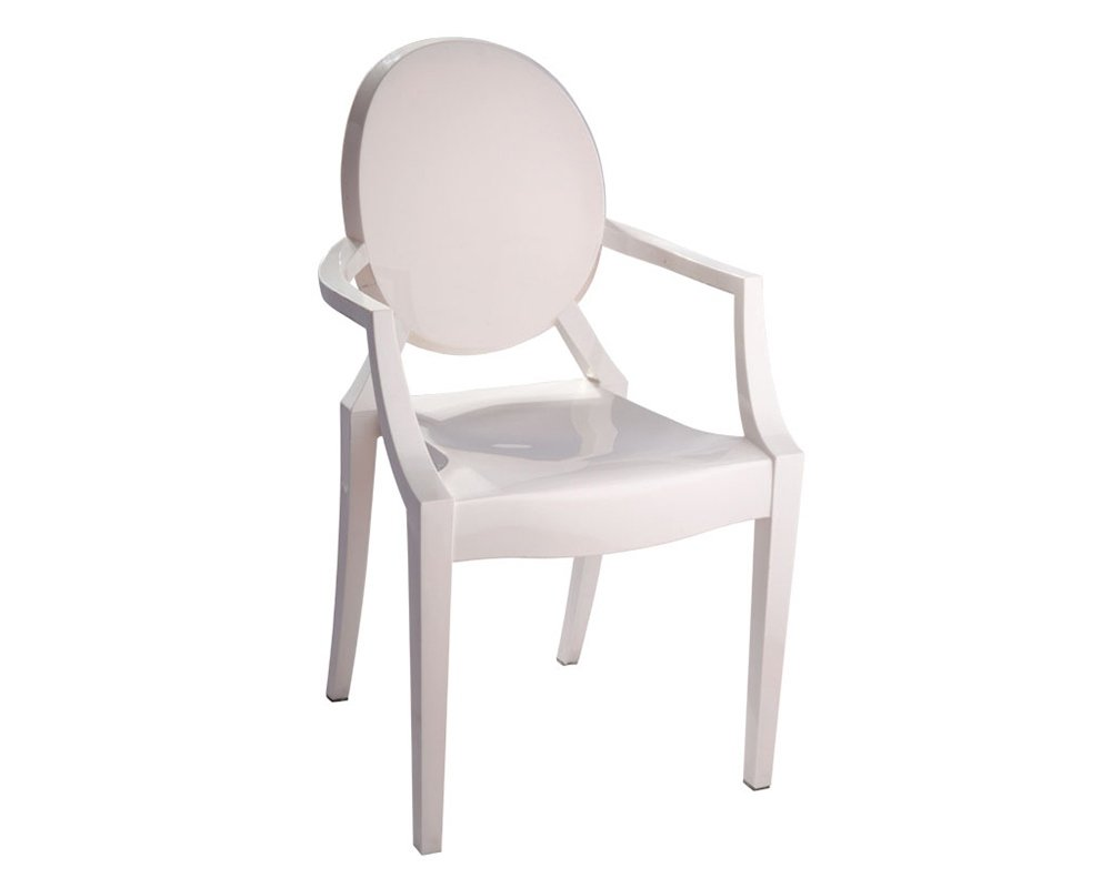Mod Made Louie Arm Chair, Ivory MM-PC-099-Ivory