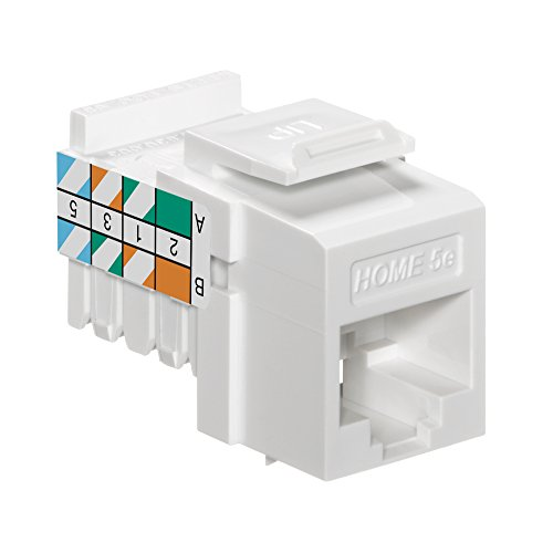Leviton Snap In Jack - Leviton 5EHOM-RW5 Home 5e Snap-In Connector, T568A/B Wiring, White