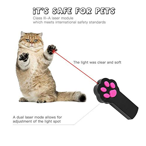 Royal Cat Paw Style Catch LED Light Pointer Red Pot Exercise Chaser for Dog and Cat (Colour May Vary) (Single)