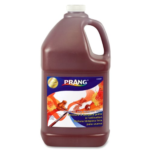 Prang 22807 Prang Ready-to-Use Tempera Paint, Gallon, Brown, 1 Unit