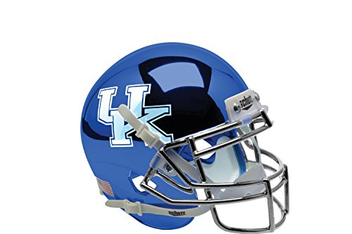 NCAA Kentucky Wildcats Blue Chrome Replica Helmet, One Size by Schutt