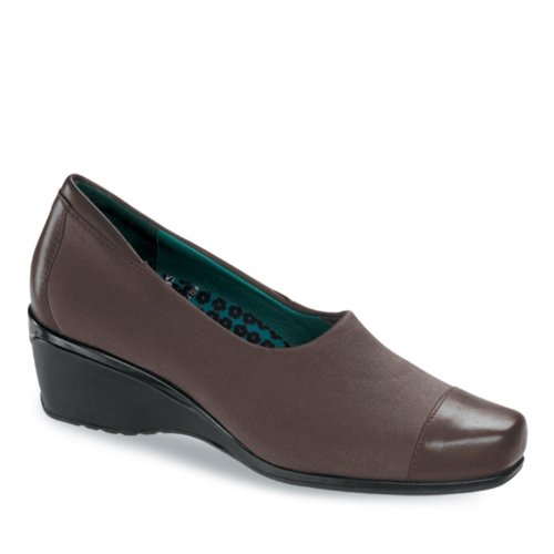Aetrex Womens Andrea Brown Stretch