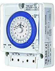 pedkit 24-Hour Mechanical Timer with Battery 15-Minute Intervals Push Pins Non Power Failure 100V-240V 15A Time Switch Din Rail Ideal for Lights LED CFL
